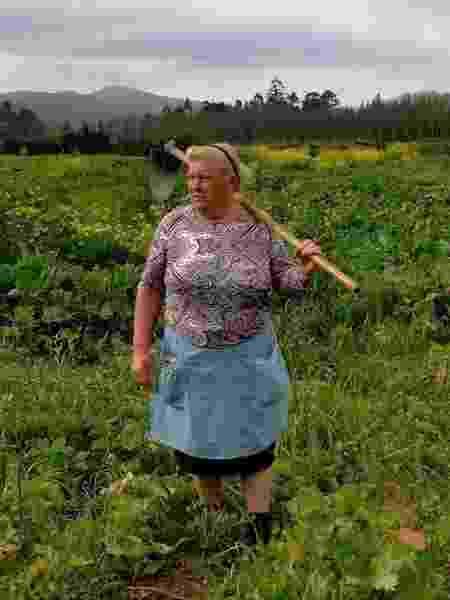 Dolores Leis Antelo, a trabalhadora rural espanhola que é tida como sósia de Donald Trump - Reprodução/Twitter