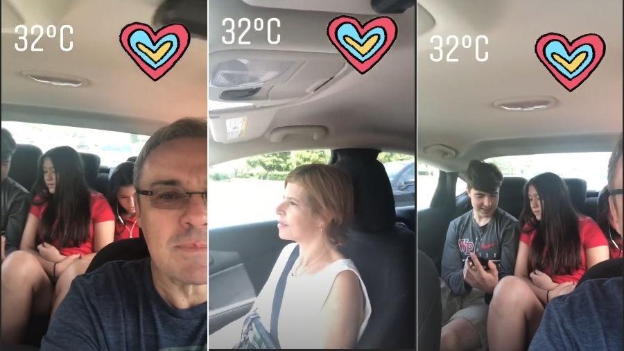 Gugu Liberato durante passeio em família - Reprodução/Instagram