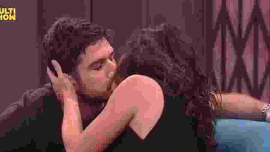 "Marco Pigossi e Alice Braga no ""Lady Night"" - Reprodução/Multishow"