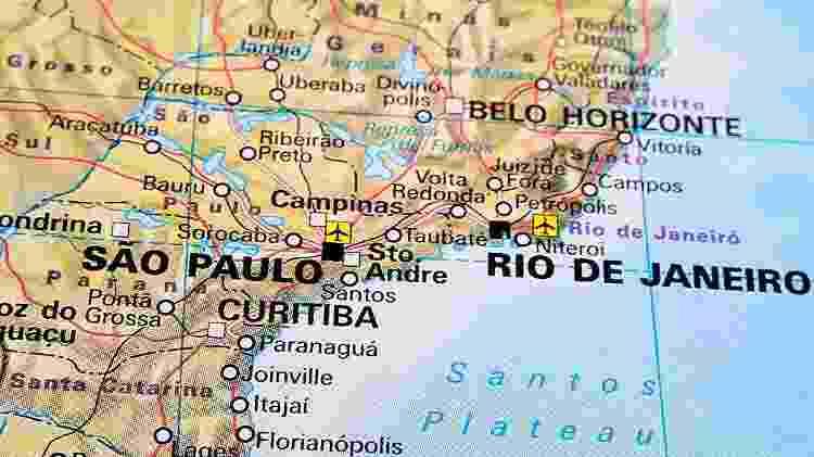 Mapa do Brasil, viagem aérea - Christopher-Oliver/Getty Images/iStockphoto - Christopher-Oliver/Getty Images/iStockphoto