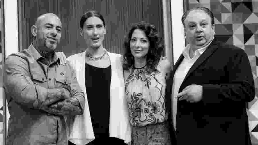 """Henrique Fogaça, Paola Carosella. Ana Paula Padra e Erick Jacquin, do """"MasterChef""""  - Fábio Guinalz/Frame"""