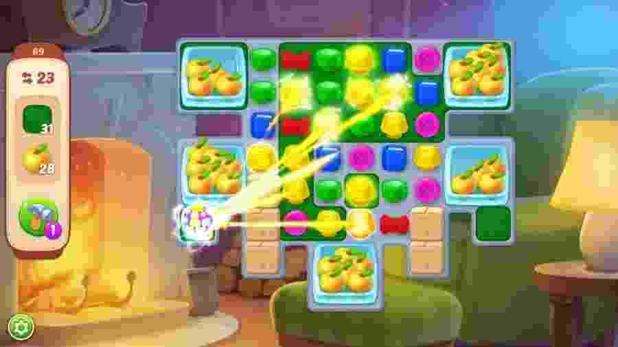 """Em """"Homescapes"""", jogo mais popular da Playrix, você ajuda um mordomo a reformar uma casa - Divulgação"""