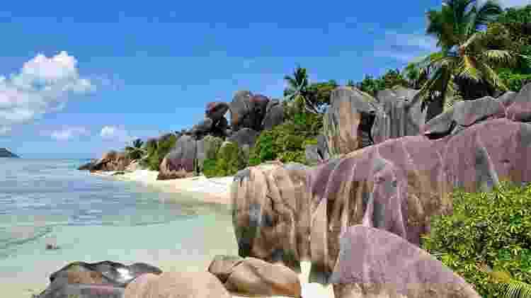 Anse Source d'Argent, uma das mais belas praias nas Seychelles - Divulgação - Divulgação