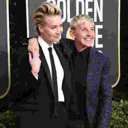A atriz Portia de Rossi (à esq.) e a mulher, a apresentadorad Ellen DeGeneres - Jon Kopaloff/Getty Images - Jon Kopaloff/Getty Images