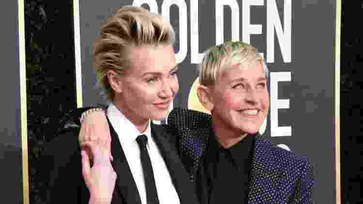 A atriz Portia de Rossi (à esq.) e a mulher, a apresentadora Ellen DeGeneres - Jon Kopaloff/Getty Images - Jon Kopaloff/Getty Images