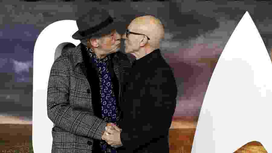 Patrick Stewart e Ian McKellen na premiere de Star Trek: Picard,em Londres - Simon Dawson / Reuters
