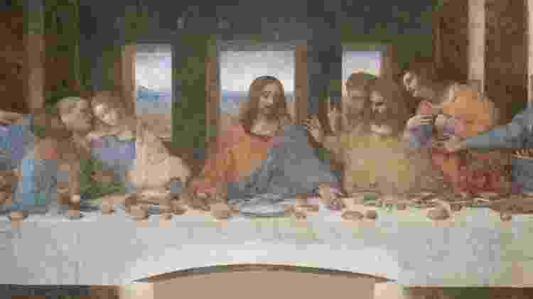 """""""A última ceia"""", de Leonardo Da Vinci  - Reprodução - Reprodução"""