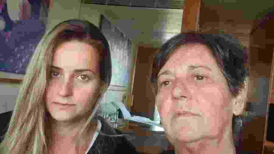 """Ligia (à esq.) e Cristina, brasileiras que estão """"presas"""" em um cruzeiro na Itália - Arquivo pessoal"""