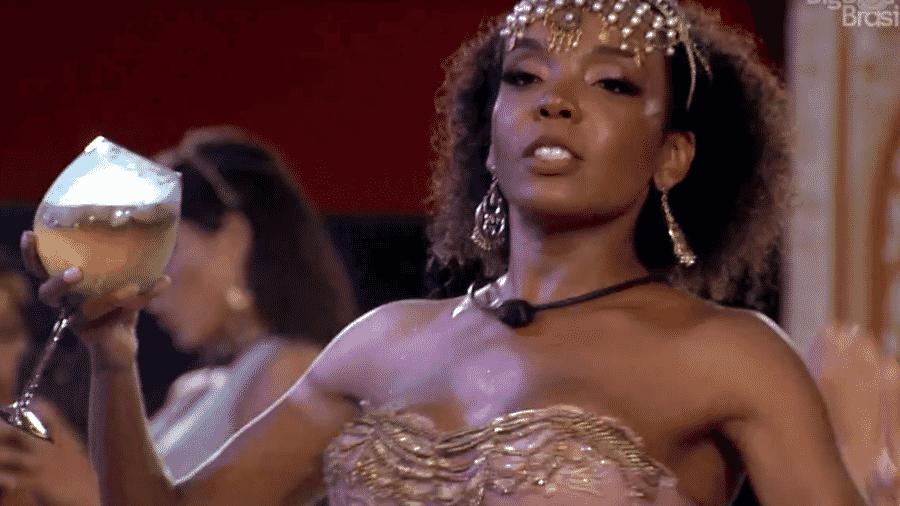Thelma durante a festa Mil e Uma Noites - Reprodução/Globoplay
