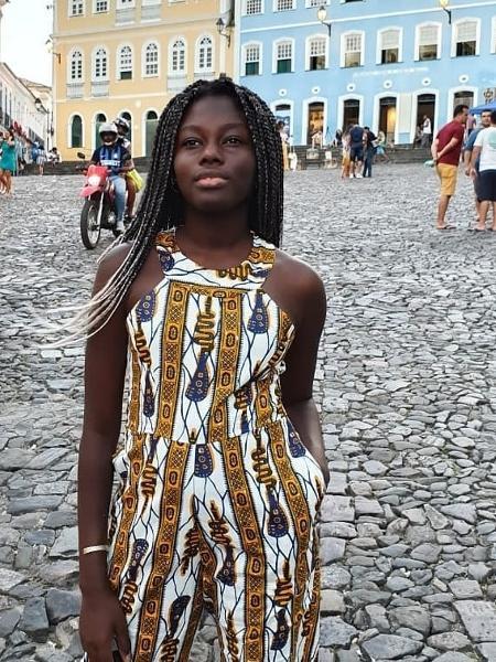 A estudante Fatou, vítima de racismo; colegas de classe foram afastados - Reprodução/Instagram
