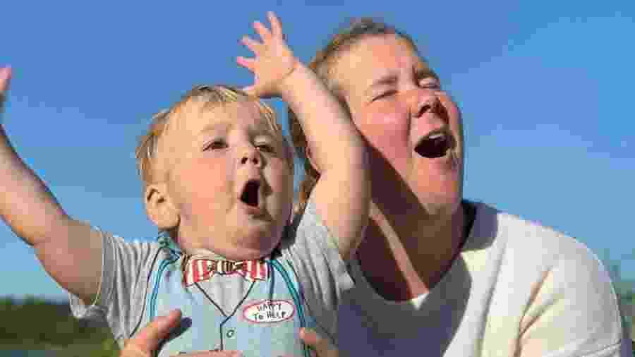 Amy Schumer com o filho, Gene, de um ano - Reprodução/Instagram