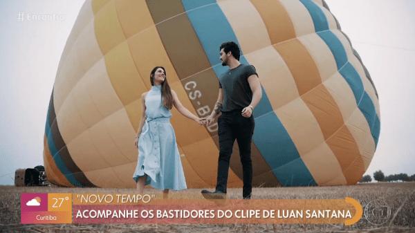 Luan Santana no dia do pedido de casamento para Jade Magalhães, durante viagem a Portugal