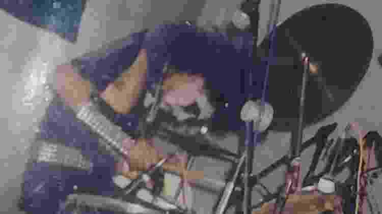 Téo Alves em sua fase black metal. Depois ele seria baterista da Menstruation - Arquivo Pessoal - Arquivo Pessoal
