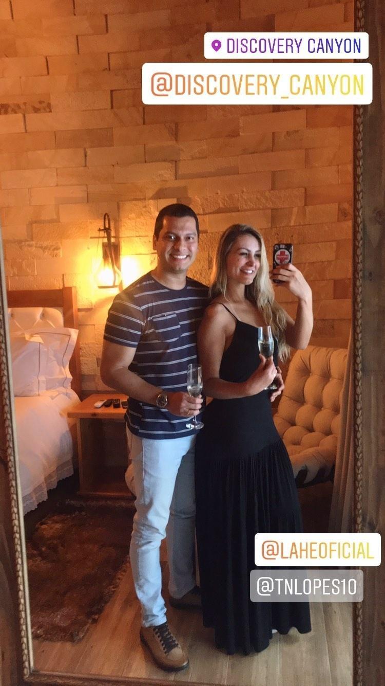 Andressa Urach e o noivo, Thiago Lopes