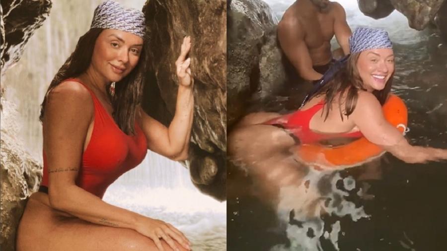 Juju Salimeni passa por apuros em cachoeira - Reprodução/Instagram