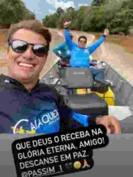 Amigo de Passim, o advogado Neto Caixeta era parceiro dele de pesca  - Reprodução/Instagram - Reprodução/Instagram