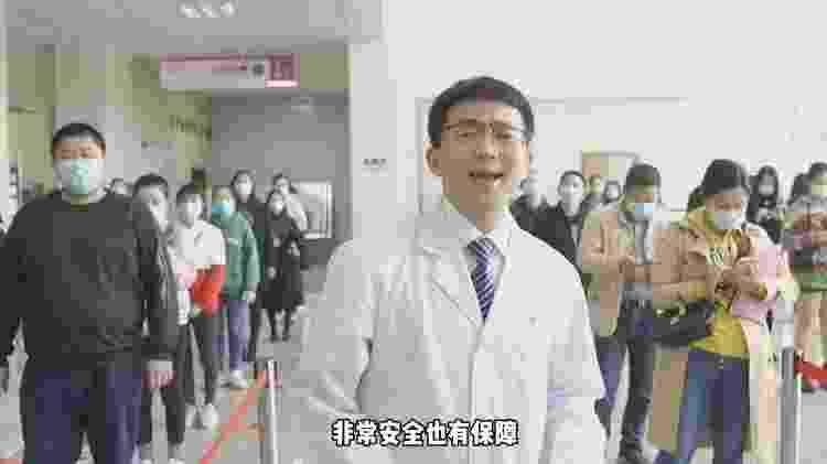 Protagonista do vídeo do 'rap da vacina' lançado pelo Ministério da Saúde de Sichuan, na China - AFP - AFP