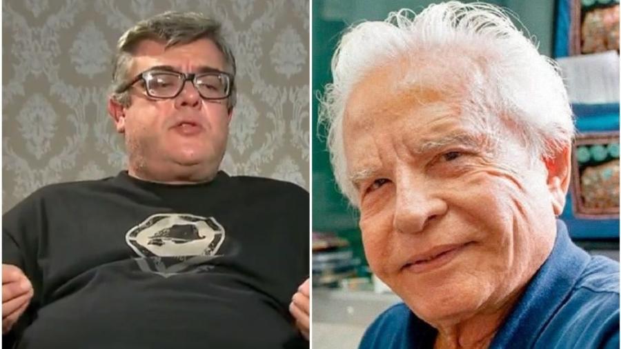Rodrigo Moreira é filho biológico de Cid Moreira - Reprodução: Record TV / Instagram