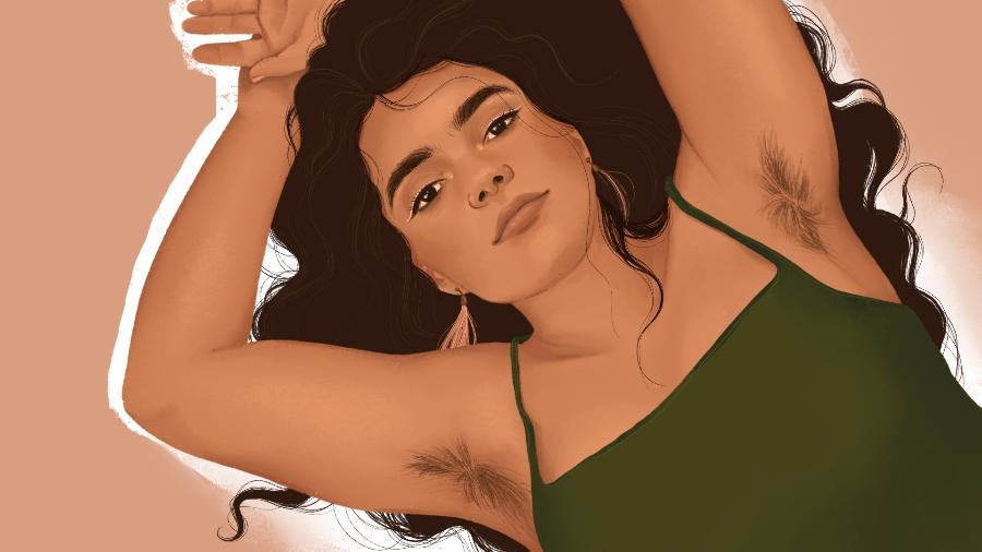 Protegidas dos olhares alheios, algumas mulheres decidiram deixar os pelos crescerem durante o confinamento social - Priscila Barbosa