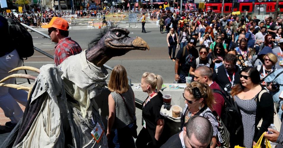 9.jul.2015 - Público comparece a San Diego Comic-Con, na Califórnia
