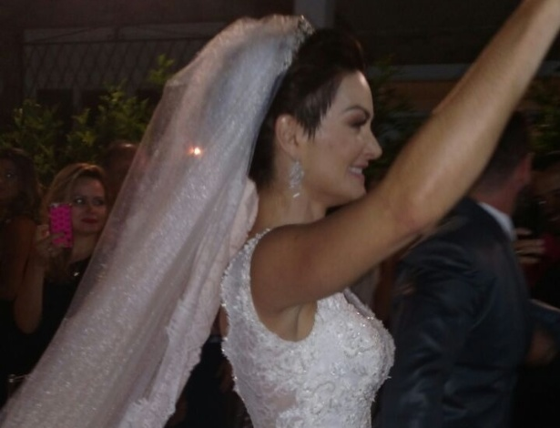 Laura Keller e Jorge Sousa, recém-casados
