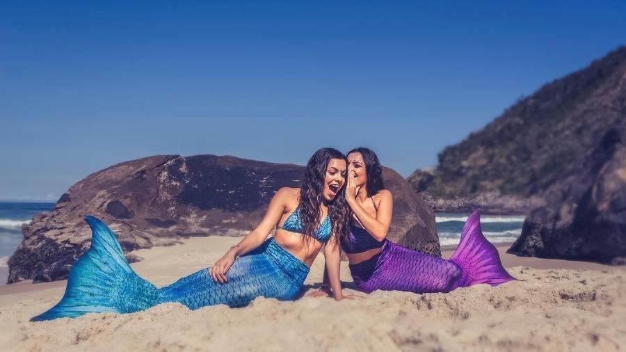 """Emilly e Mayla, do """"BBB17"""", se fantasiam de sereias para ensaio fotográfico - Reprodução/Instagram/projeto_sereias"""