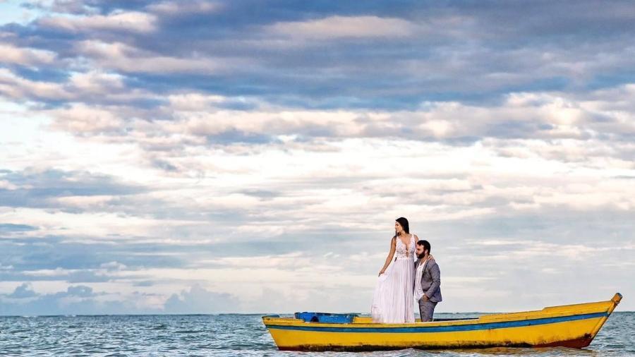 João e Dezirrê em seu casamento surpresa - Arquivo Pessoal