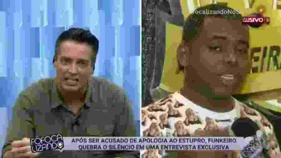 """Isento, Léo Dias já criticou até o """"Fofocalizando"""", por dar voz a cantor  de """"Só Surubinha de Leve"""" - Reprodução/SBT"""