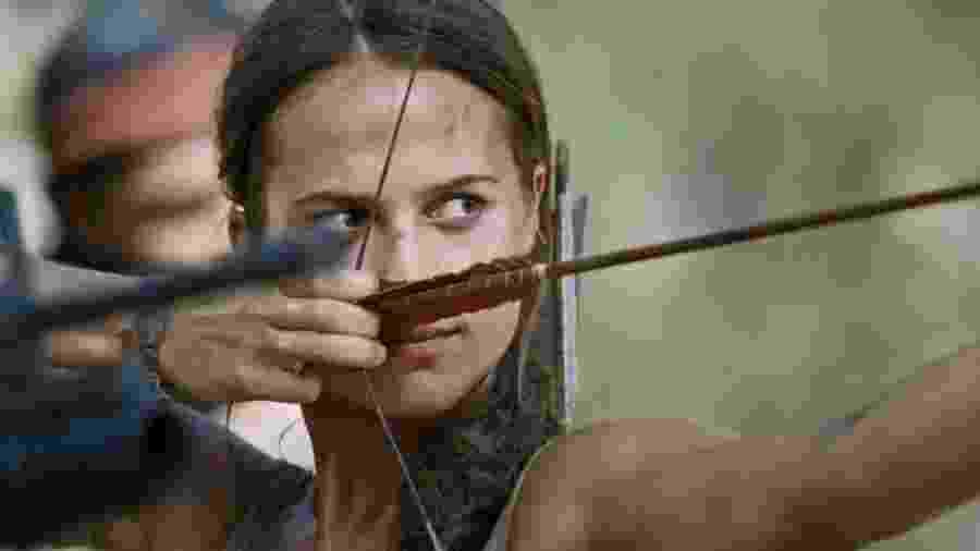"""Alicia Vikander como Lara Croft em """"Tomb Raider - A Origem"""" - Divulgação"""