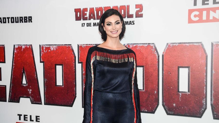 """Morena Baccarin posa em São Paulo durante evento para divulgar """"Deadpool 2"""" -  Eduardo Martins/AgNews"""