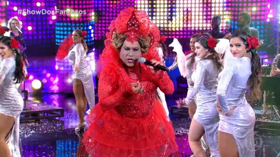 """Tiago Abravanel interpreta Gaby Amarantos no """"Show dos Famosos"""", após cantora criticar Silvio Santos - Reprodução/TV Globo"""