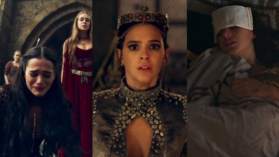 """Apesar de críticas, Bruna Marqueizne também mandou  bem em """"Deus Salve o Rei"""" - Reprodução/Globo/Montagem UOL"""
