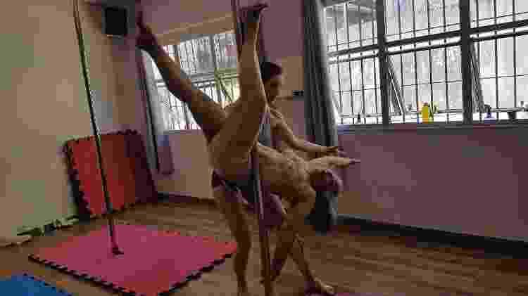 Therry Klotzel pratica pole dance há dois meses - Arquivo pessoal/Therry Klotzel - Arquivo pessoal/Therry Klotzel