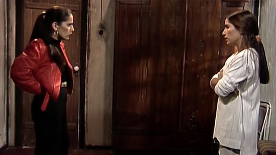 """Briga entre Raquel e Ruth em """"Mulheres de Areia"""" vira treta política em meme - Reprodução/TV Globo"""