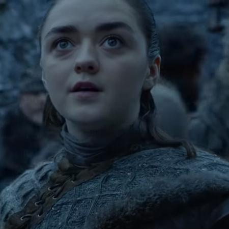 """Arya (Maisie Williams) se impressiona em cena da oitava temporada de """"Game of Thrones"""" - Reprodução/YouTube"""