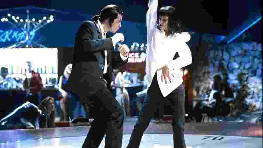 John Travolta e Uma Thurman em Pulp Fiction: Tempo de Violência - Divulgação/IMDb