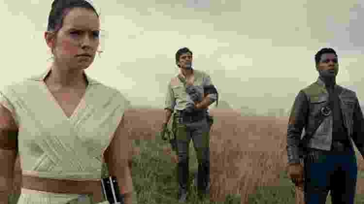 Rey, Poe e Finn em Star Wars - A Ascensão Skywalker - Divulgação
