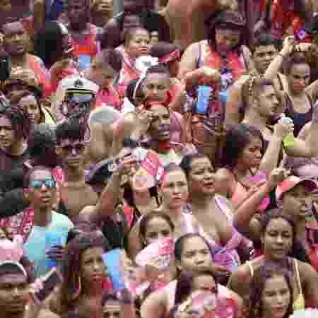 Foliões se divertem no Bloco da Preta no centro do Rio de Janeiro - Ricardo Borges/UOL
