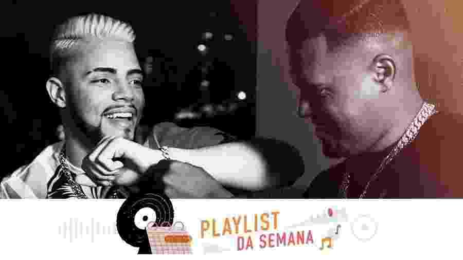JS O Mão de Ouro e Thiaguinho MT na Playlist da Semana - Arte UOL