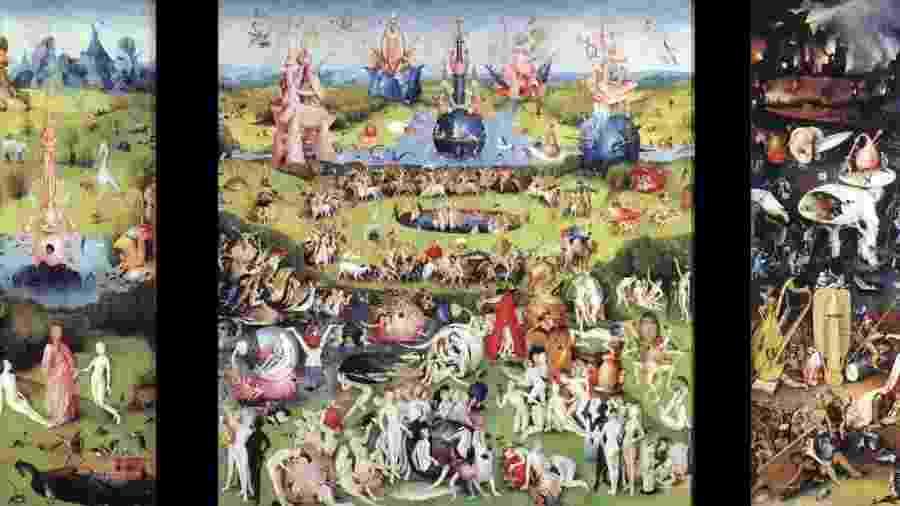 """Nada de limites em """"Jardim das Delícias Terrenas"""", pintura do século 16. - Hieronymus Bosch"""