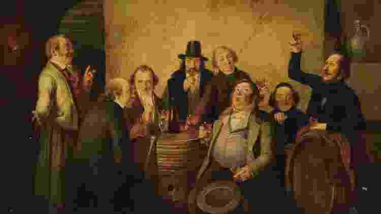 Degustação de vinho, de Johann Peter (1810-1853) - Heritage Images/Getty Images - Heritage Images/Getty Images