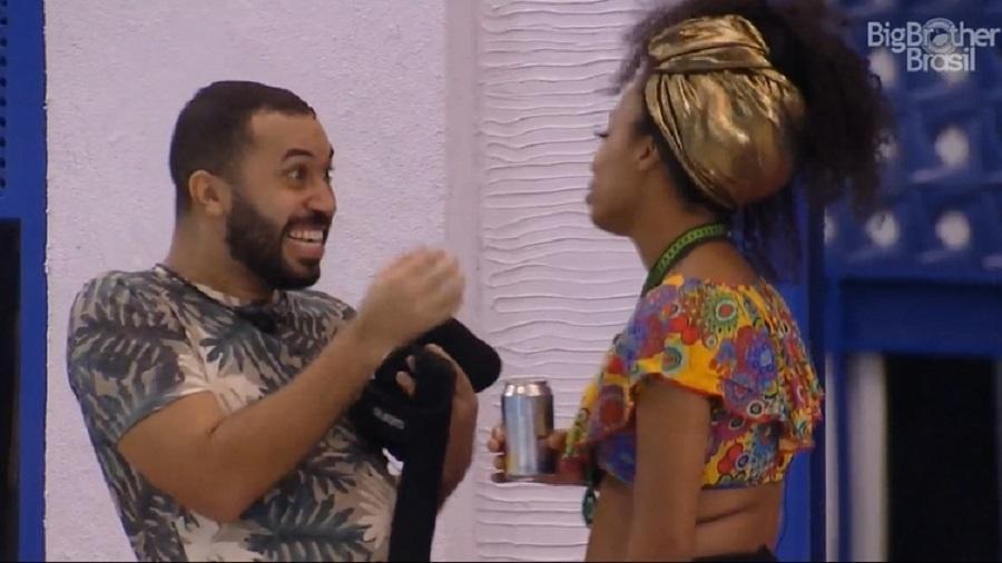 """""""BBB 21"""": Gilberto diz que paixão por Fiuk era ilusão - Reprodução/Globoplay"""