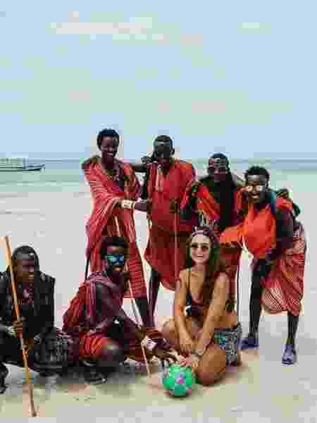 Marina em Zanzibar - Arquivo pessoal - Arquivo pessoal