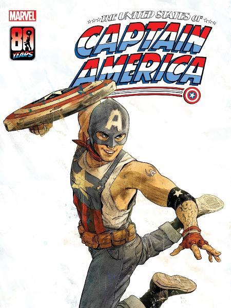 """Capa de """"The United States of Captain America #1"""", com o herói Aaron Fisher - Reprodução"""