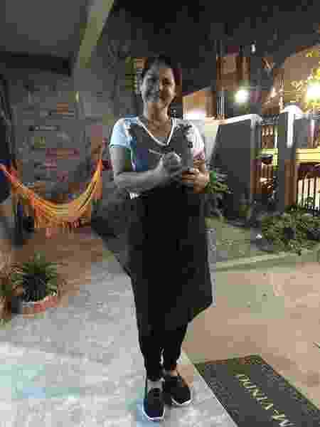Marcia Reis trabalhou em hostel de Vila Velha - Arquivo pessoal - Arquivo pessoal