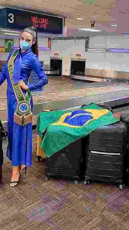 A Miss Brasil Julia Gama chegou aos EUA - Reprodução/Instagram - Reprodução/Instagram