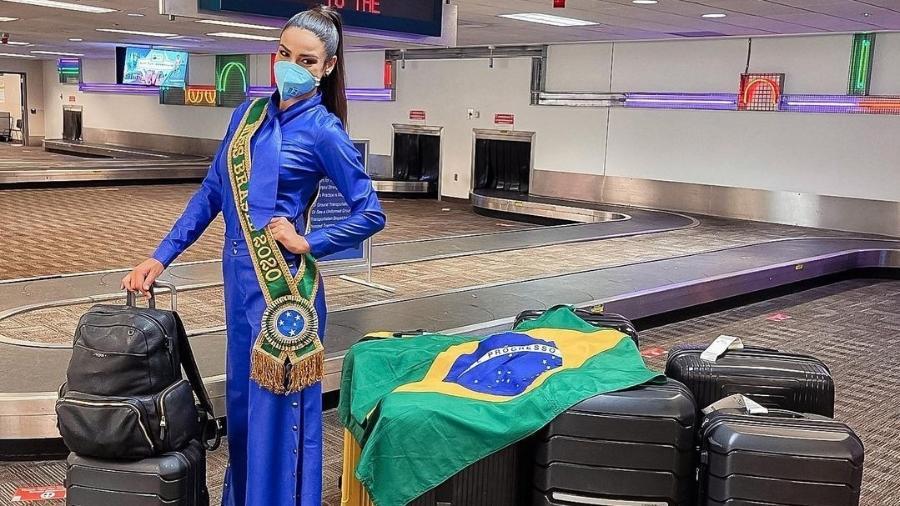 A Miss Brasil Julia Gama chegou aos EUA - Reprodução/Instagram @juliawgama