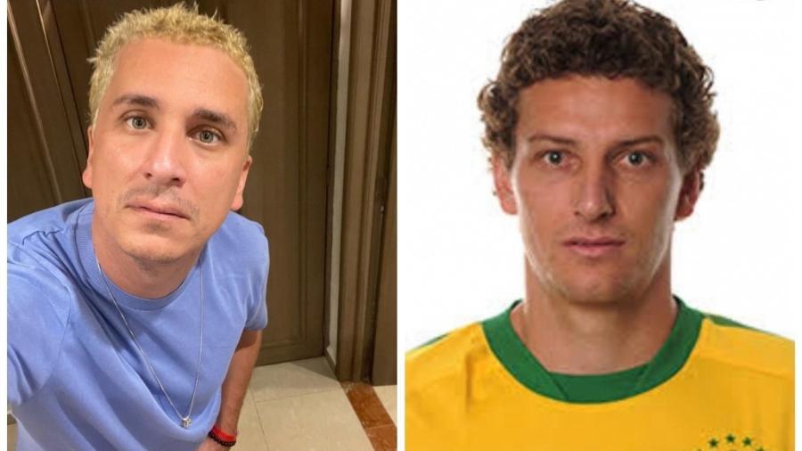 Rafael Portugal faz comparação com Elano - Reprodução/Twitter e Instagram
