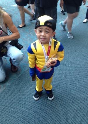 10.jul.2915 - Cosplayers circulam para San Diego Comic-Con durante o 2º dia da convenção