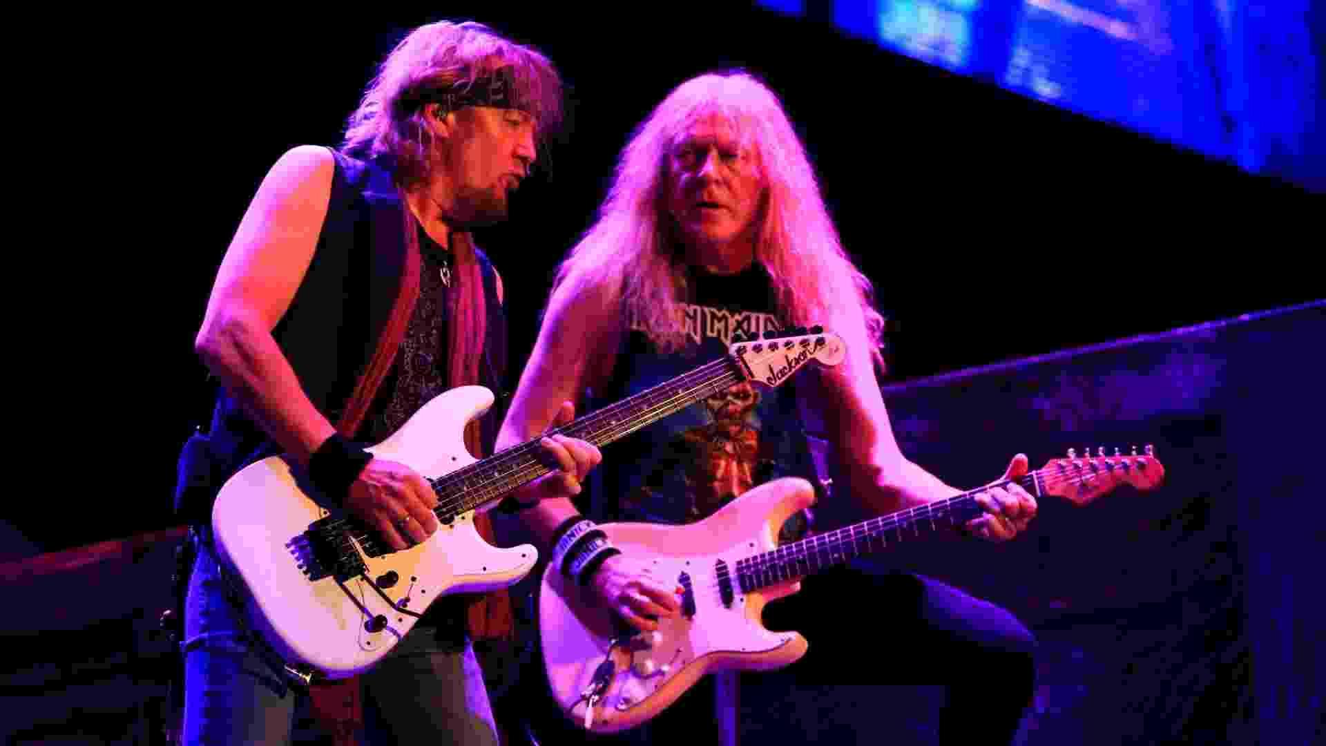 """17.mar.2016 - Iron Maiden abre a turnê brasileira de """"The Book of Souls"""" com um show no HSBC Arena, no Rio de Janeiro - Douglas Shineidr/UOL"""
